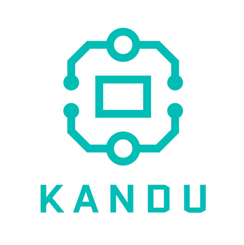 KANDU logo turkis og hvit